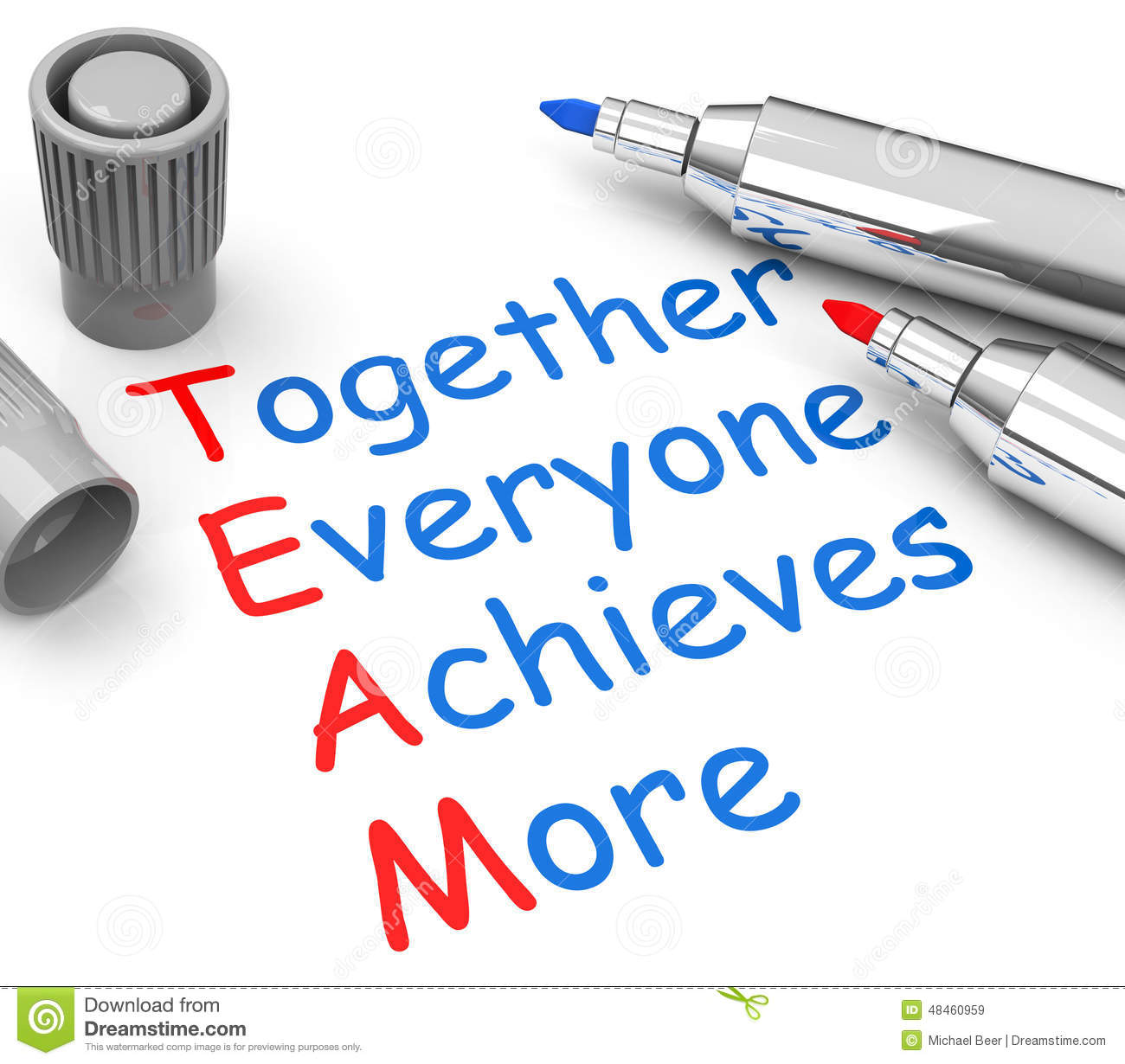 Together everyone achieves more stock illustration for More com