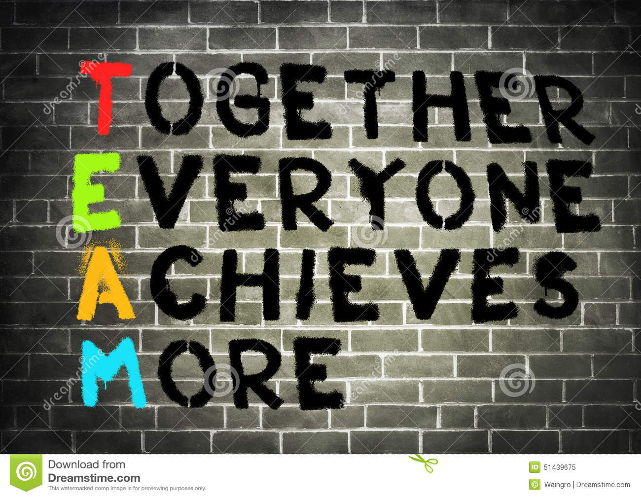 team together everyone achieves more Team: together everyone achieves more throughout time we mere mortals have had a tendency to believe that our generation was the first to realize or invent pretty much everything take teamwork, for example.