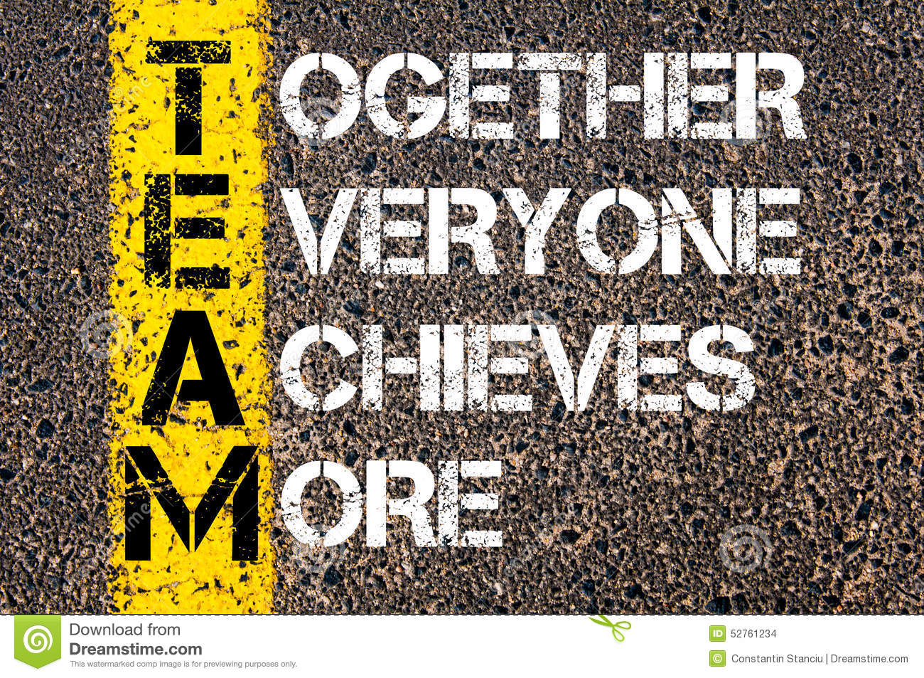 Together Everyone Achieves More - TEAM Concept Stock Illustration ...