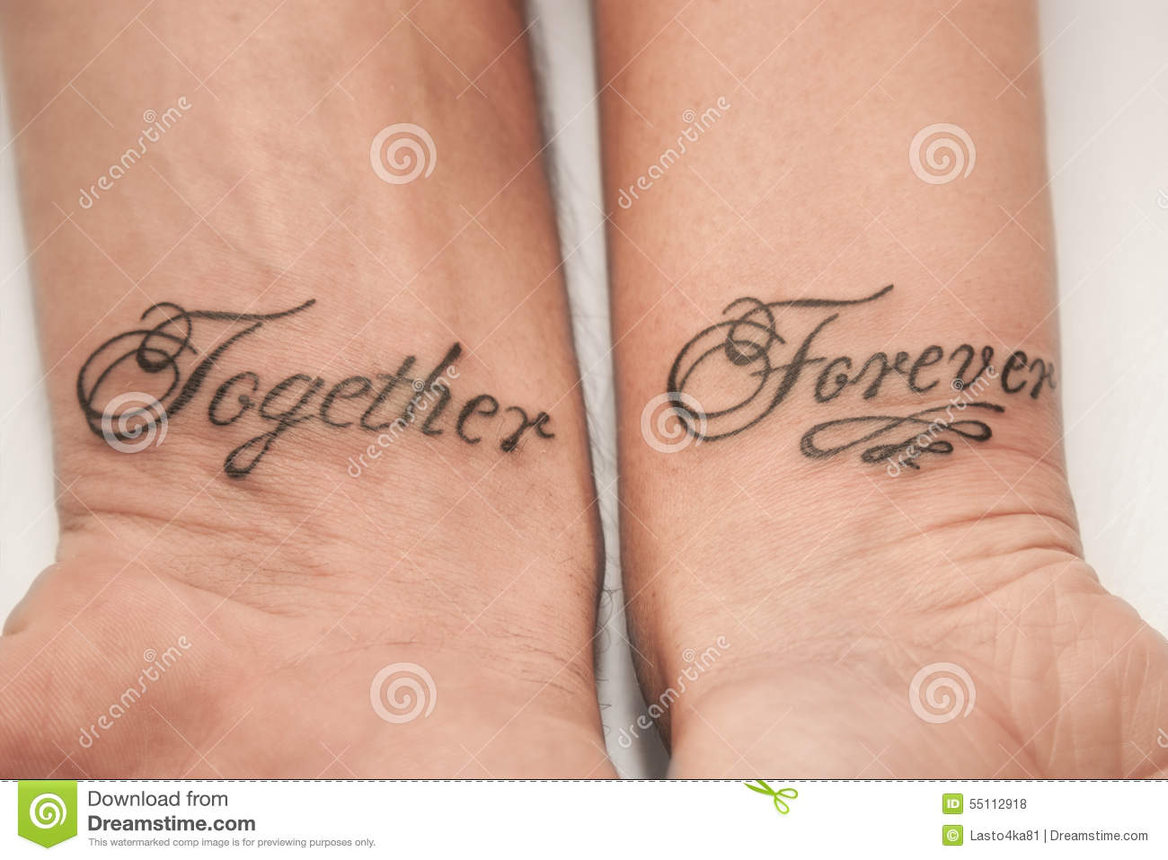 Together forever stock photo image of couple forever for Together forever tattoo