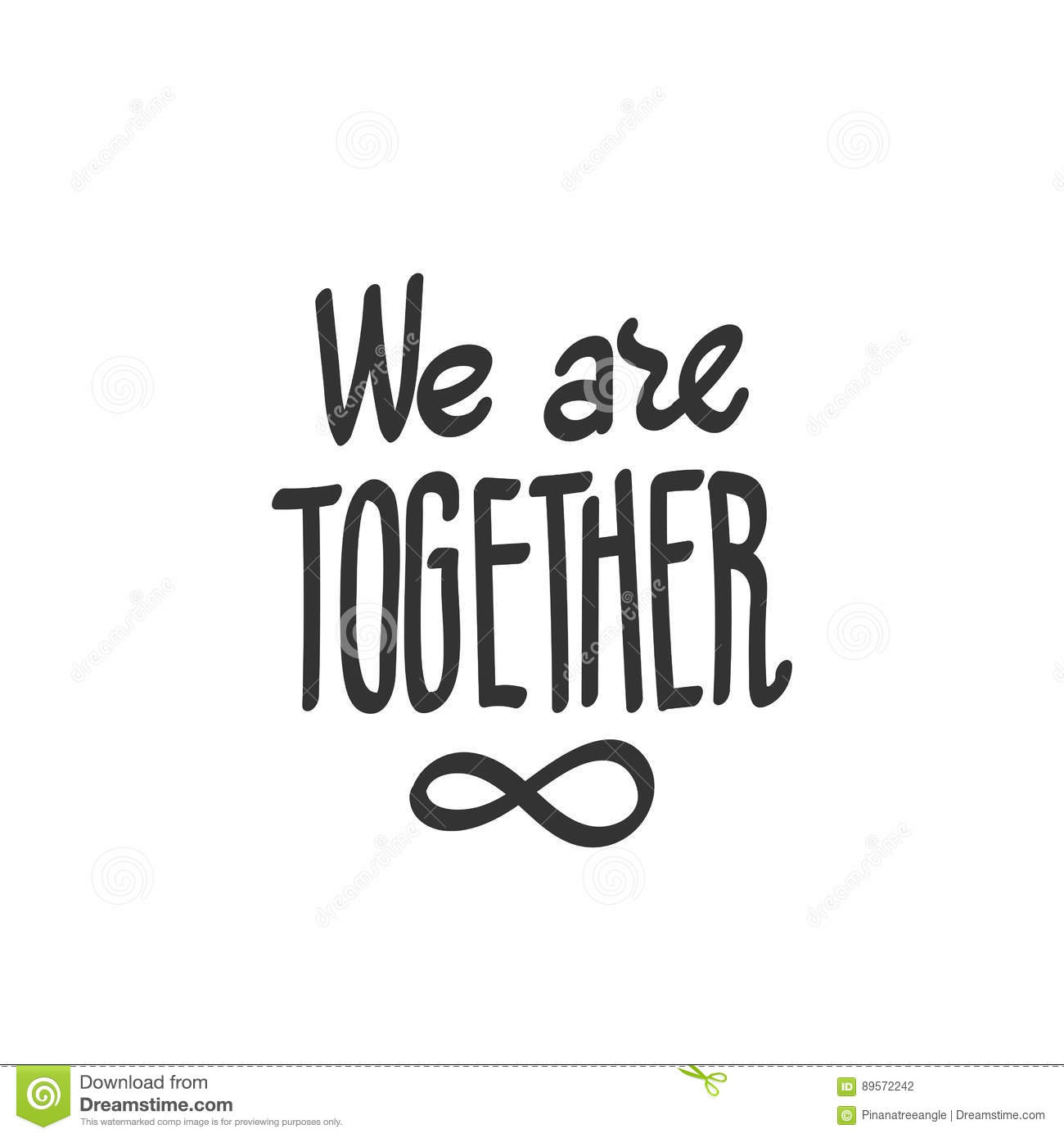 We Are Together Infinity Symbol Stock Illustration Illustration