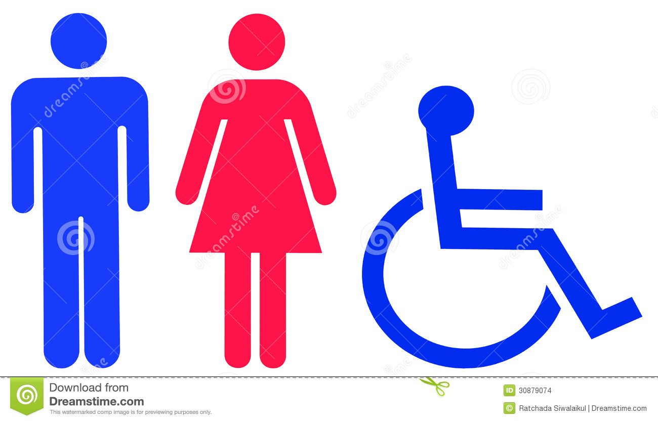 Royalty Free Stock Photo  Download Universal Toilet Sign. Universal Toilet Sign Stock Images   Image  30879074