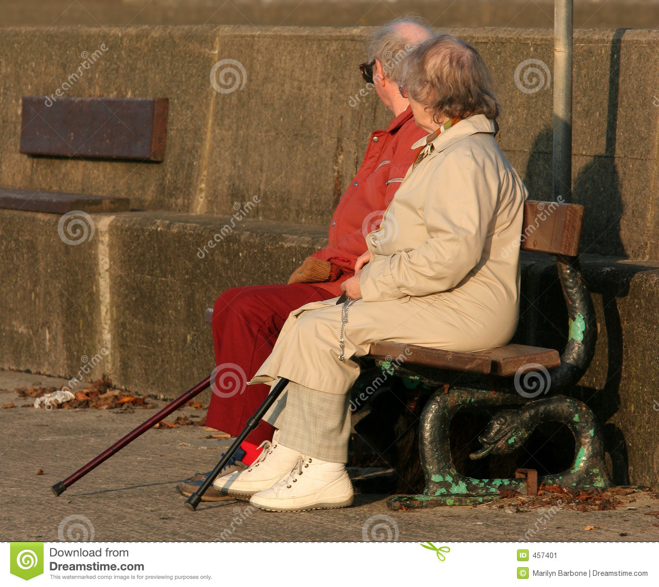 Download Together In Old Age stock image. Image of stick, senior - 457401