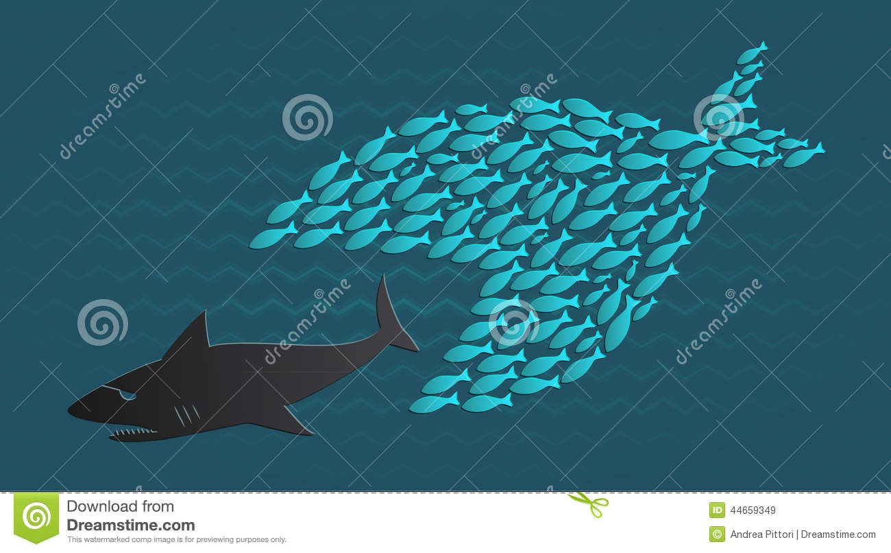 Together we stand big little fish eats big fish stock for Big fish eat small fish