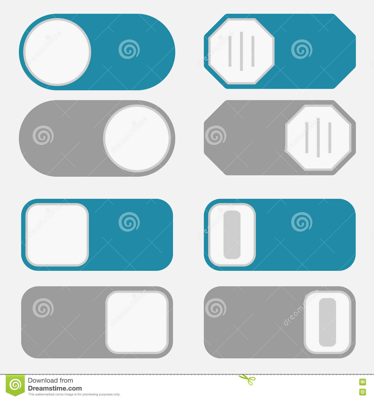 Toggle Switch, On Off Button Stock Vector - Illustration of contact ...