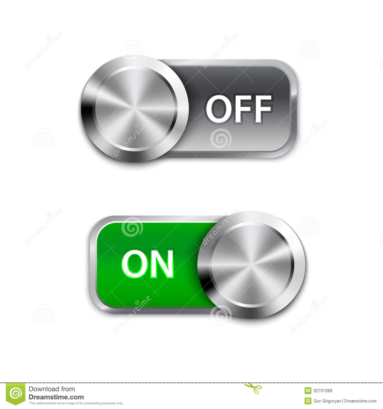 Toggle switch on and off position onoff sliders stock vector toggle switch on and off position onoff sliders biocorpaavc Choice Image