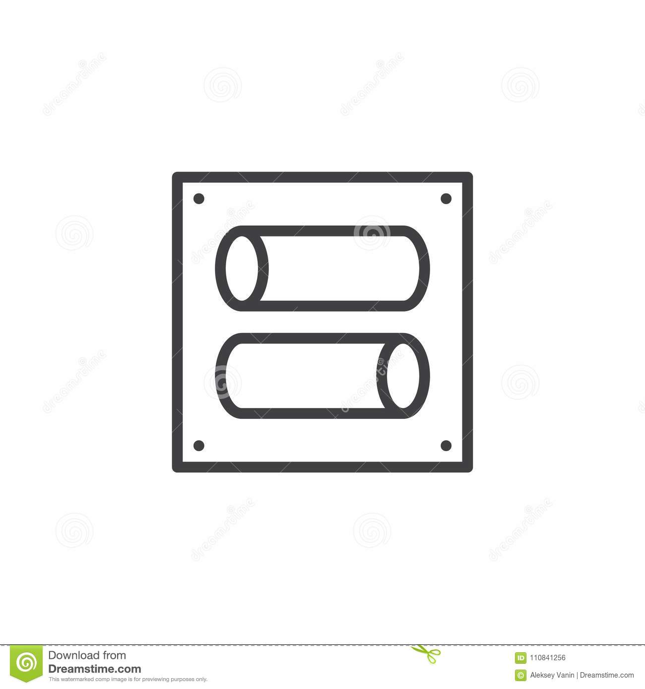 Charming toggle symbol photos the best electrical circuit toggle switch outline icon stock vector illustration of tumbler biocorpaavc Images