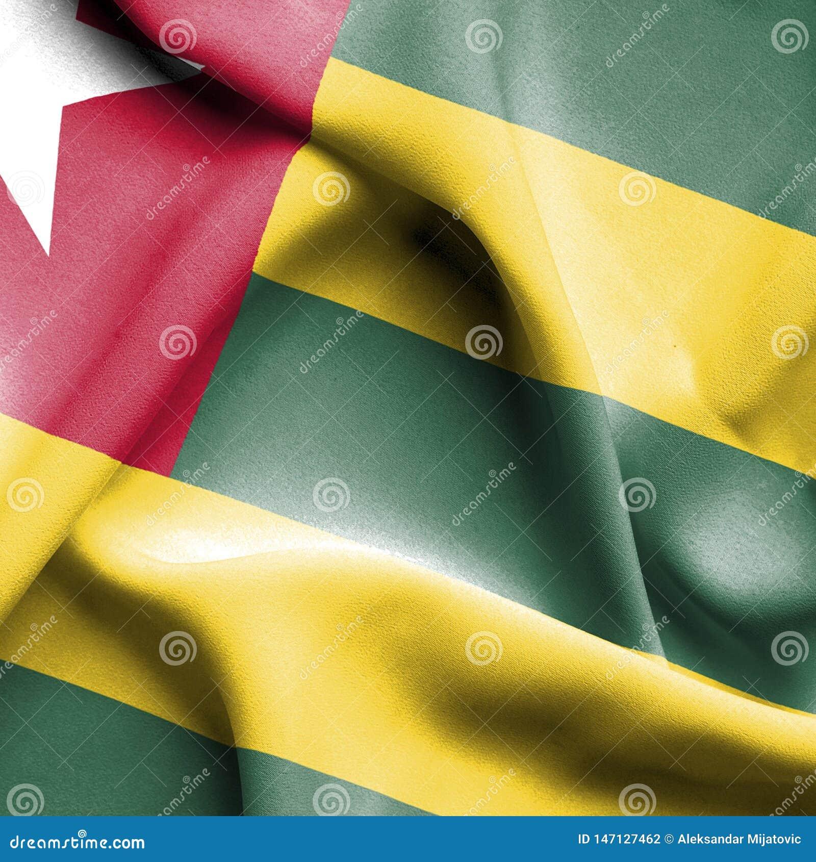 Togo vinkande flagga