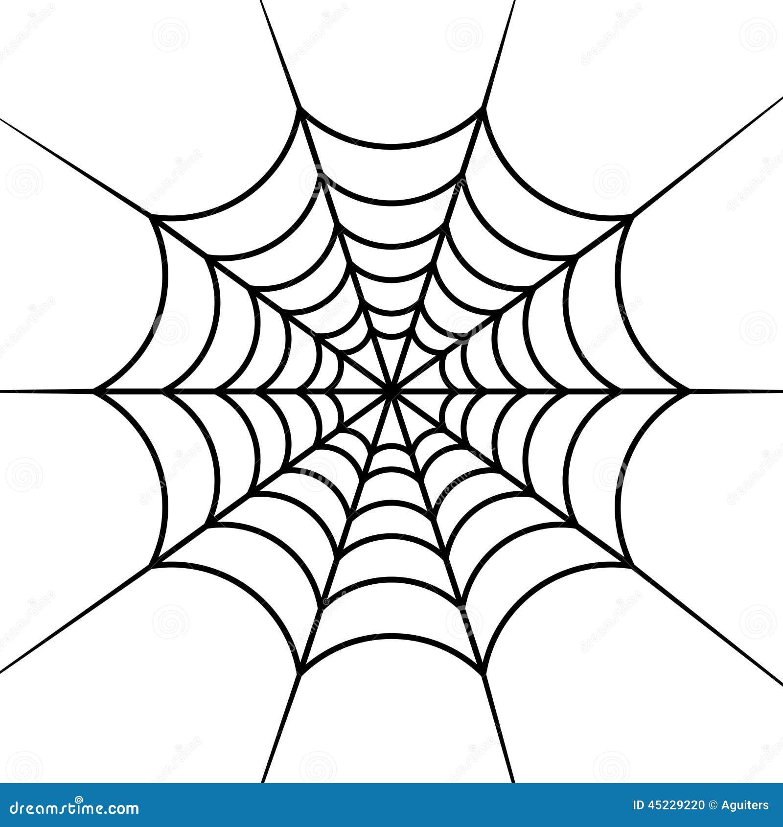 Toile d 39 araign e illustration de vecteur image 45229220 - Toile d araignee en papier ...