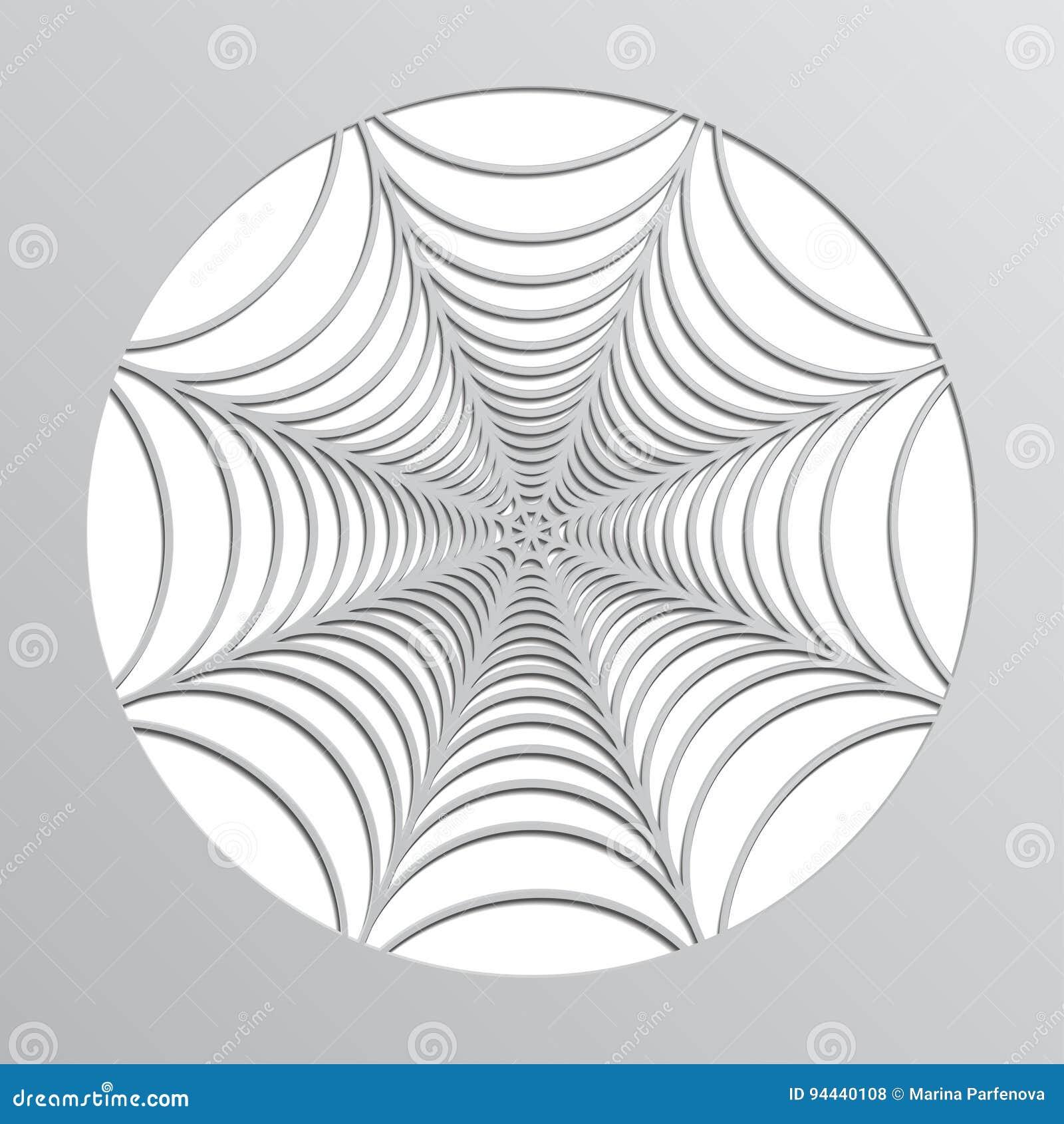 toile d'araignée de papier origami décoration à veille de la
