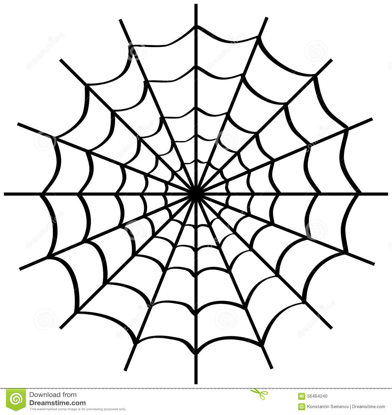 Toile d 39 araign e sur le blanc illustration stock image 56464240 - Maquillage toile d araignee ...