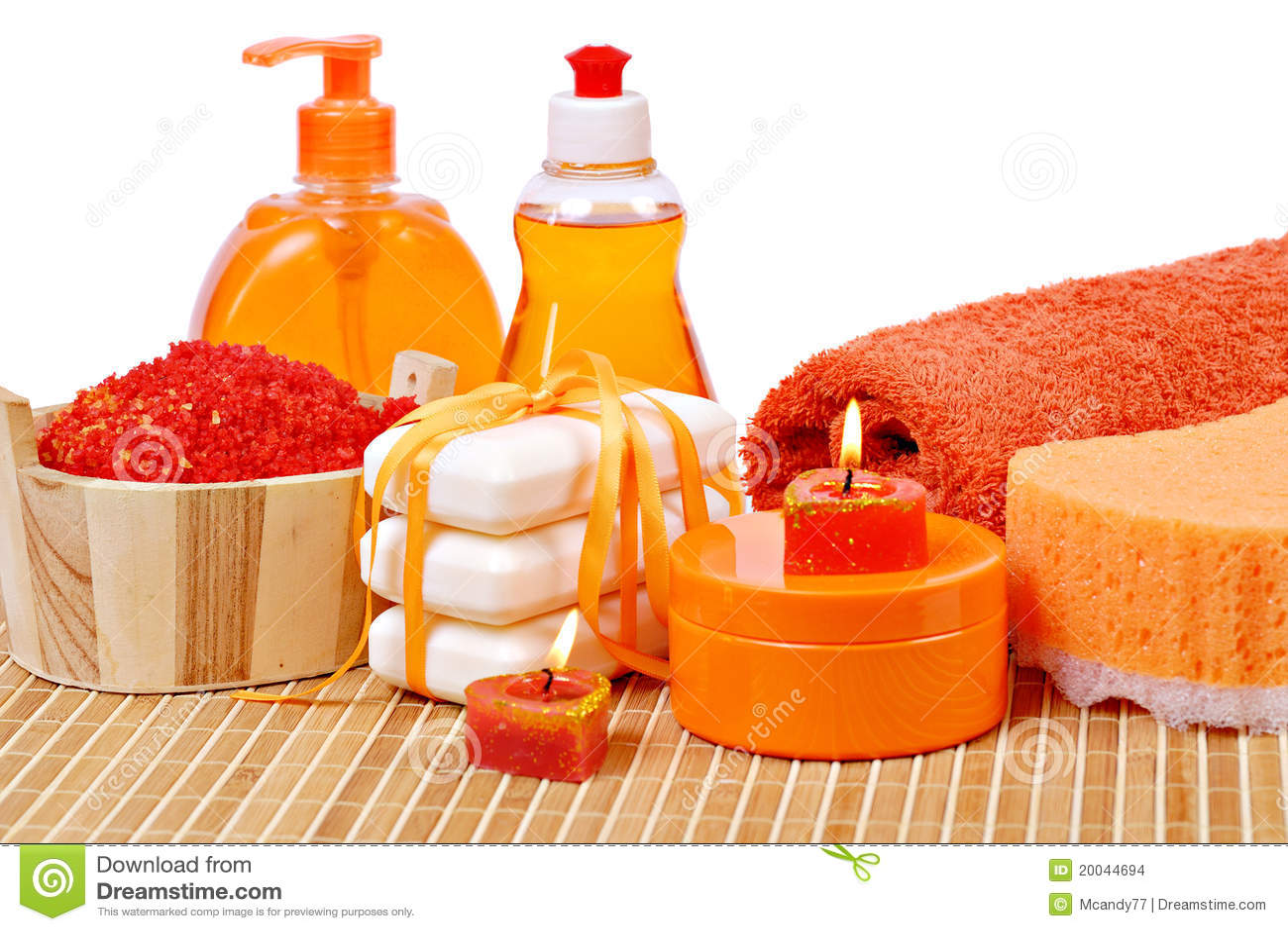 Toilet accessories of orange color stock images image for Orange toilet accessories