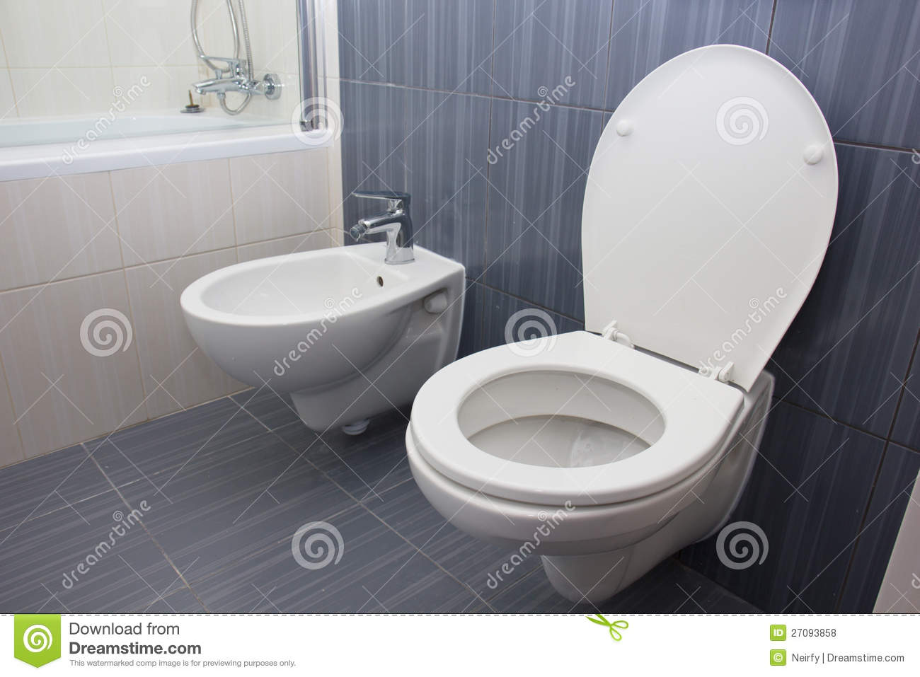 Toilet in the bathroom stock photo. Image of clean, architecture ...