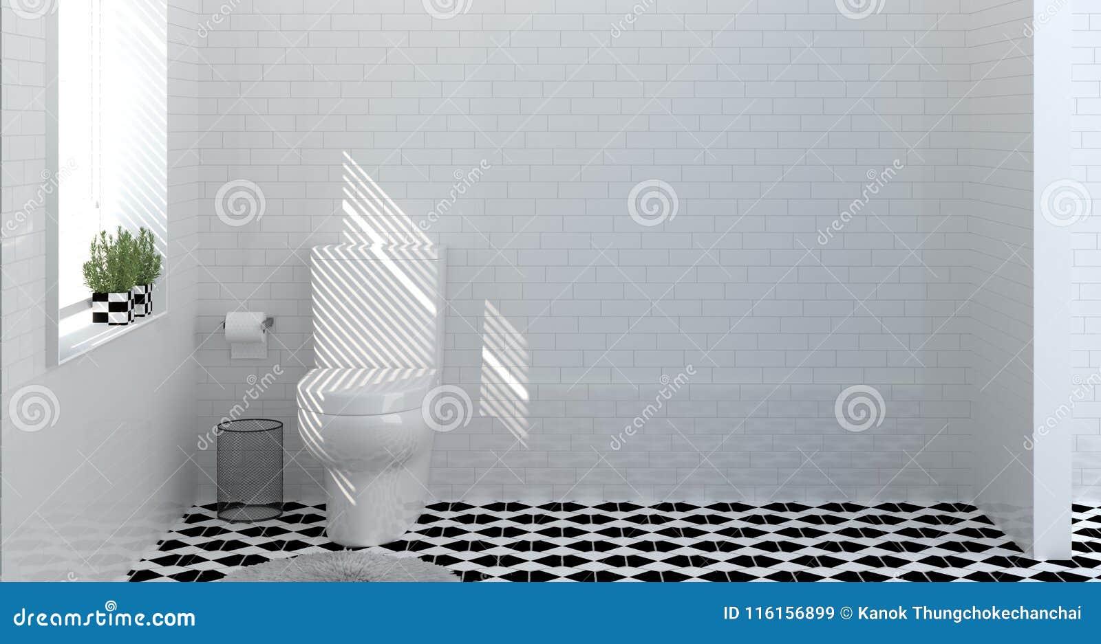Toilet Bathroom Interior,shower,modern Home Design 3d Rendering For ...