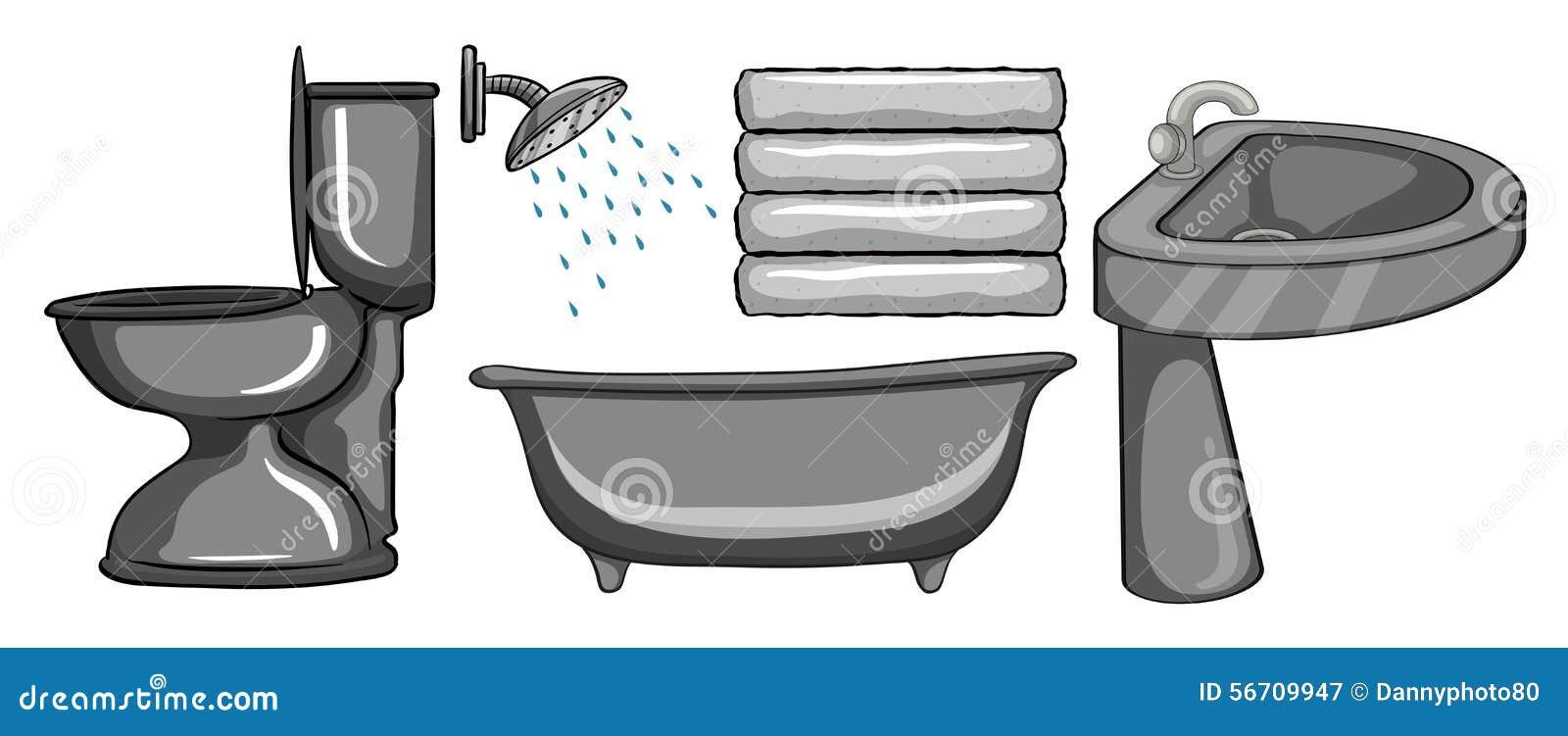 Toilet stock vector image 56709947 for Bathroom ware