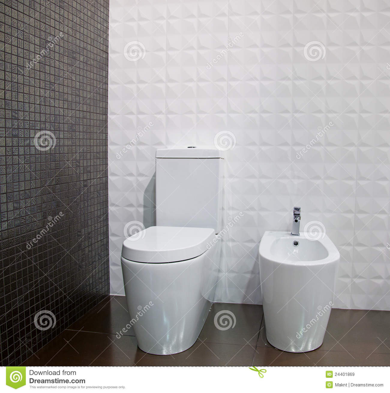 The Toilet And Bidet Royalty Free Stock Images Image