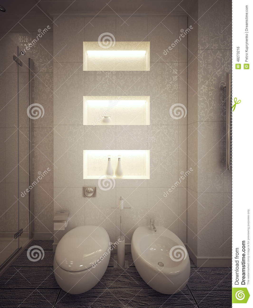 Toilet And Bidet Modern Style Stock Illustration Illustration Of - Amazing-toilets-and-bidets-collection-from-stile