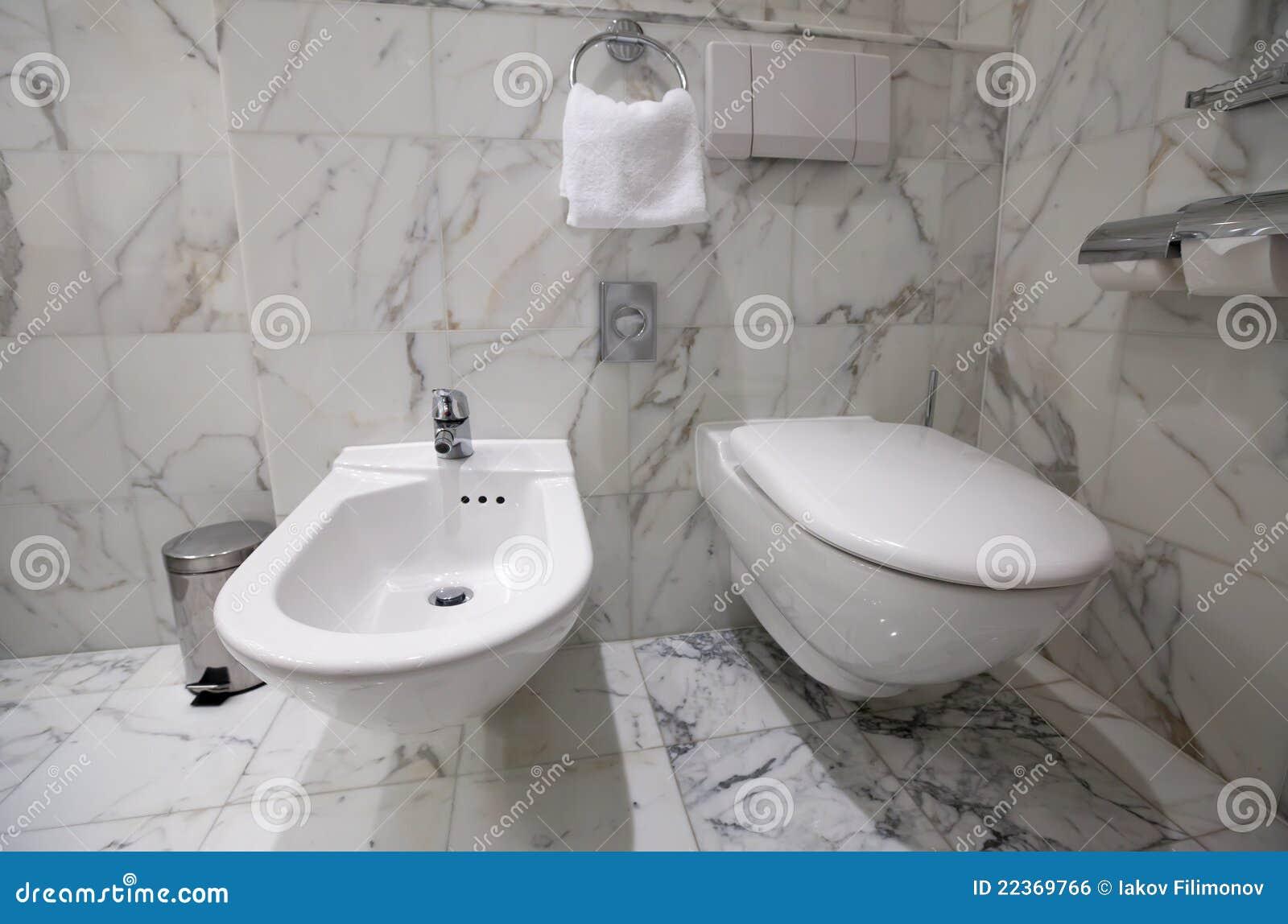 Toilet Bowl And Bidet Stock Photo Image Of Modern Flush