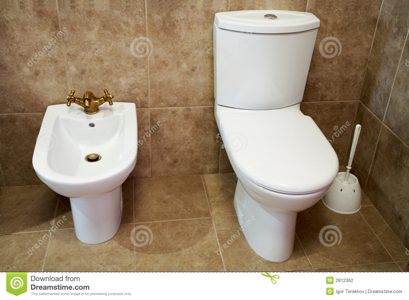 Toilet Bowl And Bidet Stock Photo Image Of Equipment