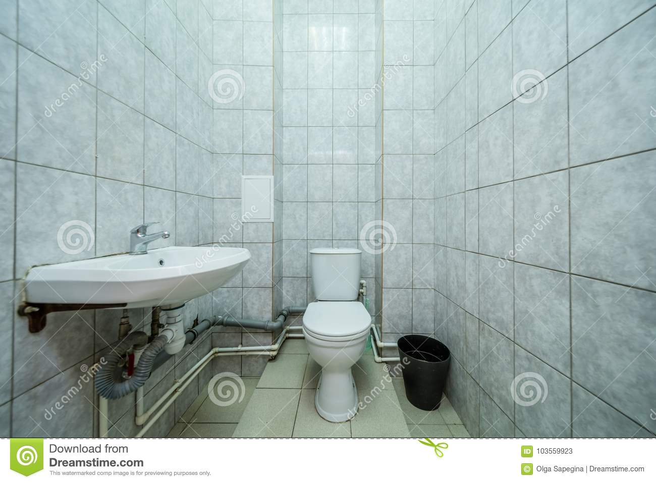 Restroom with toilet stock image. Image of modern, hygiene - 103559923