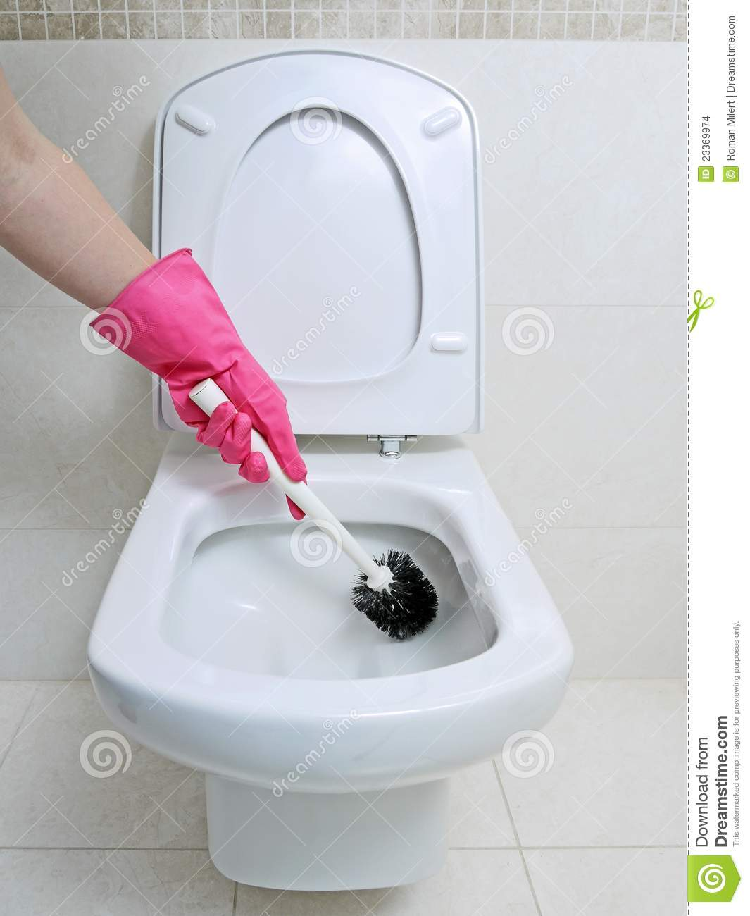 toilet cleaning stock photo image of modern glove. Black Bedroom Furniture Sets. Home Design Ideas