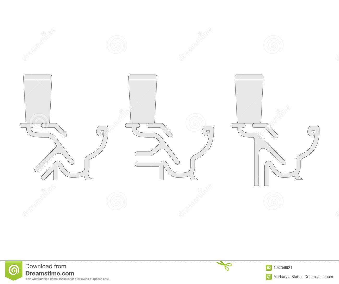 Set Of Different Types Of Toilet Stock Vector Illustration Of