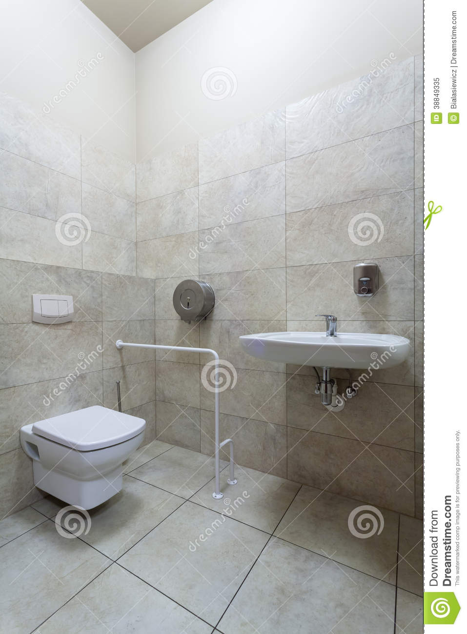 Toilet for disabled stock photo image 38849335 - Toilet for handicapped person ...