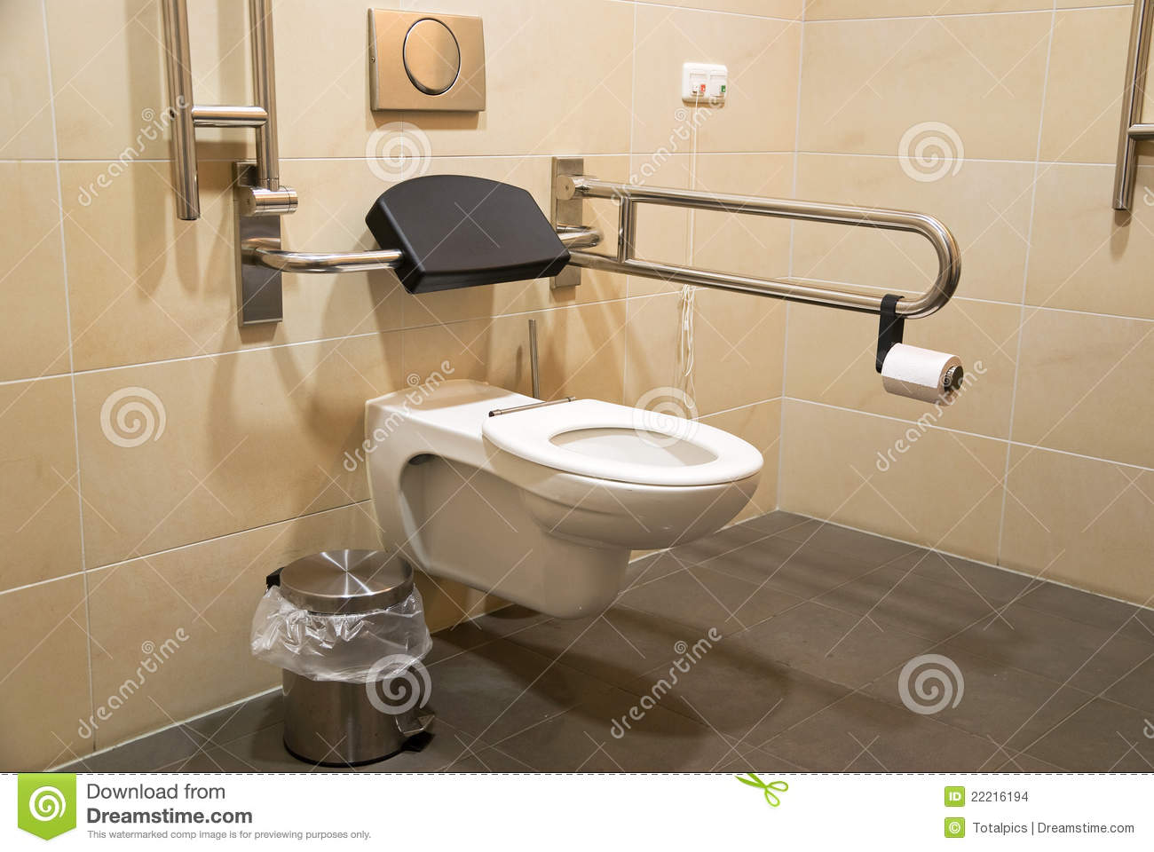 Toilet for disabled people stock images image 22216194 - Toilet for handicapped person ...