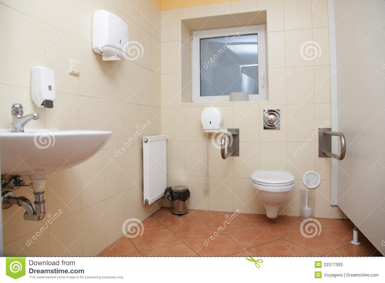 Toilet For Disabled People Stock Image Image Of Paper