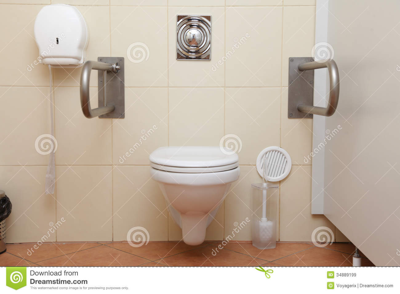 Toilet for disabled people royalty free stock images - Toilet for handicapped person ...