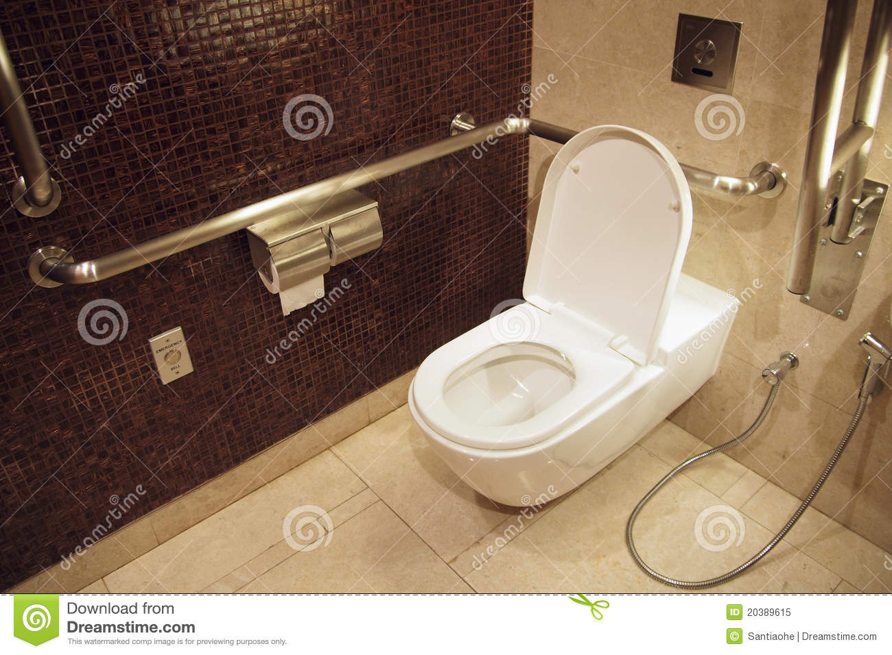 Toilet for disables royalty free stock photo image 20389615 - Toilet for handicapped person ...