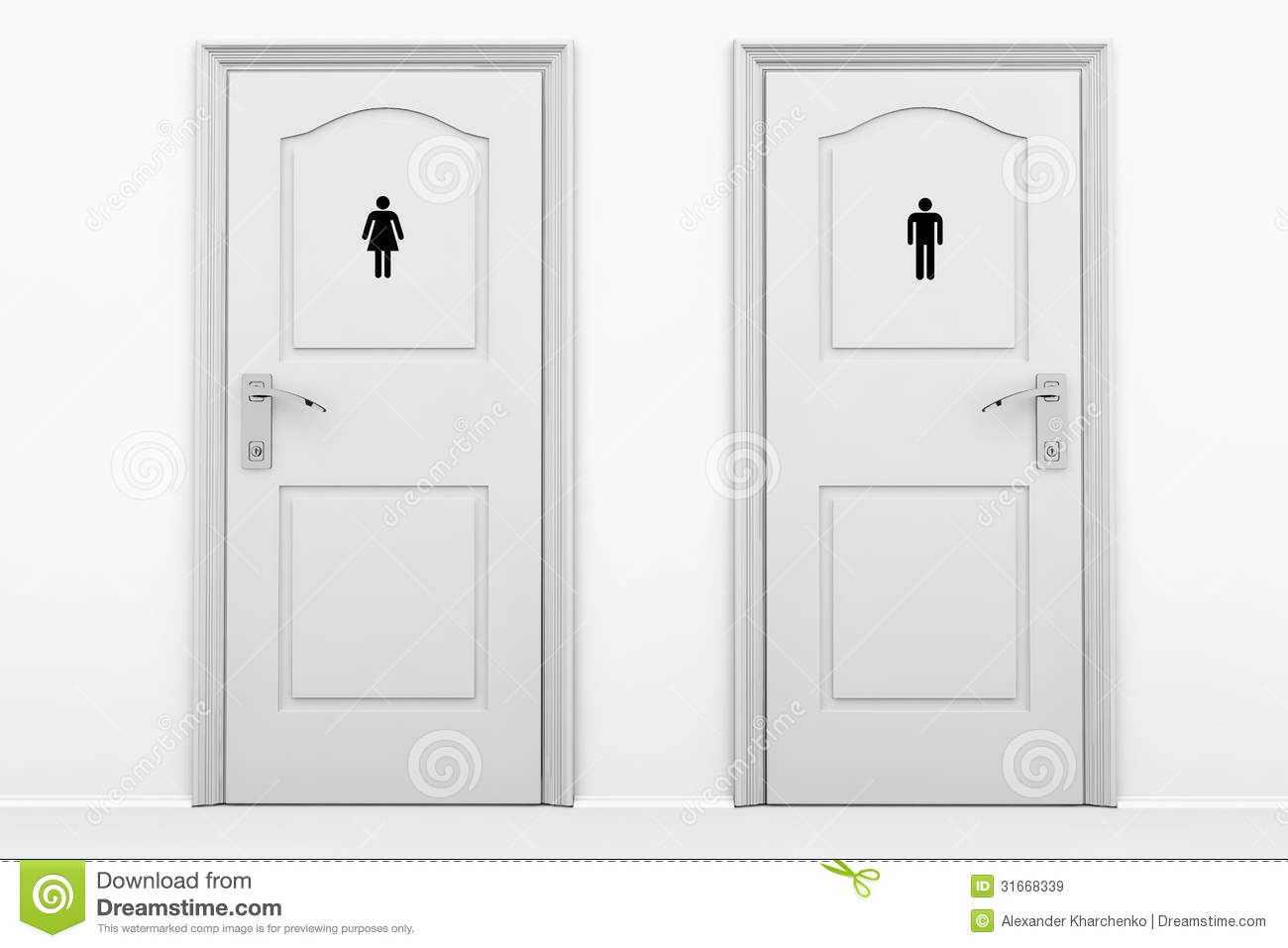 Toilet Doors For Male And Female Genders Illustration 31668339 - Megapixl  sc 1 st  Megapixl & Toilet Doors For Male And Female Genders Illustration 31668339 ...