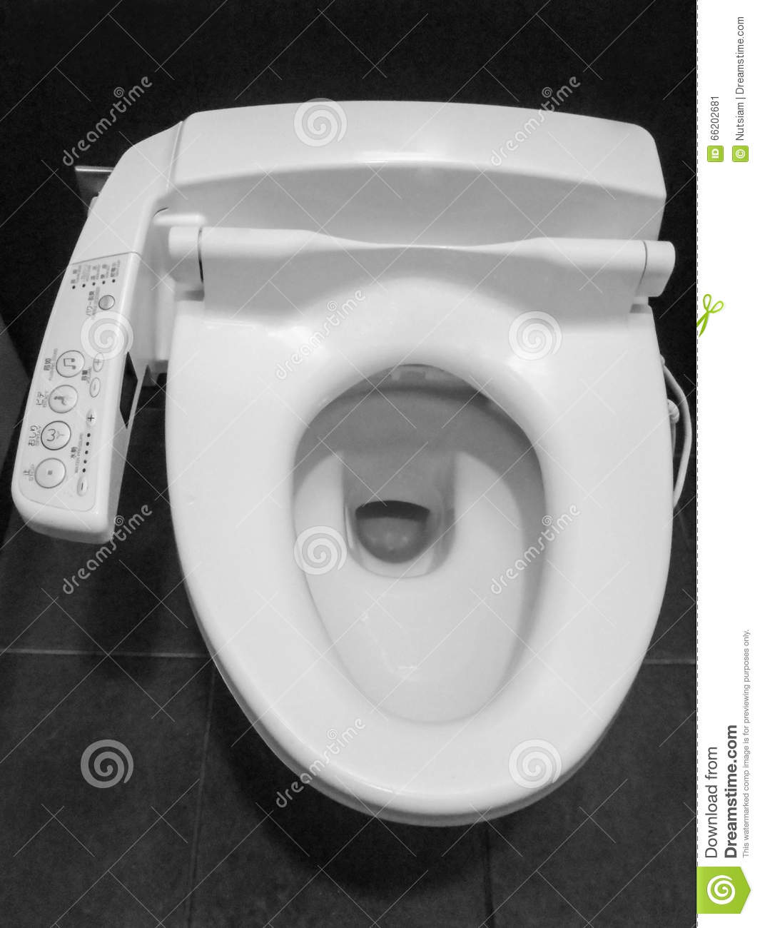 Toilet with heated seat stock image. Image of bathroom - 66202681