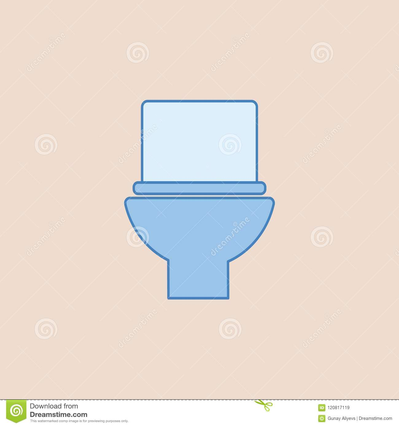Toilet Icon. Element Of Bathroom For Mobile Concept And Web Apps ...