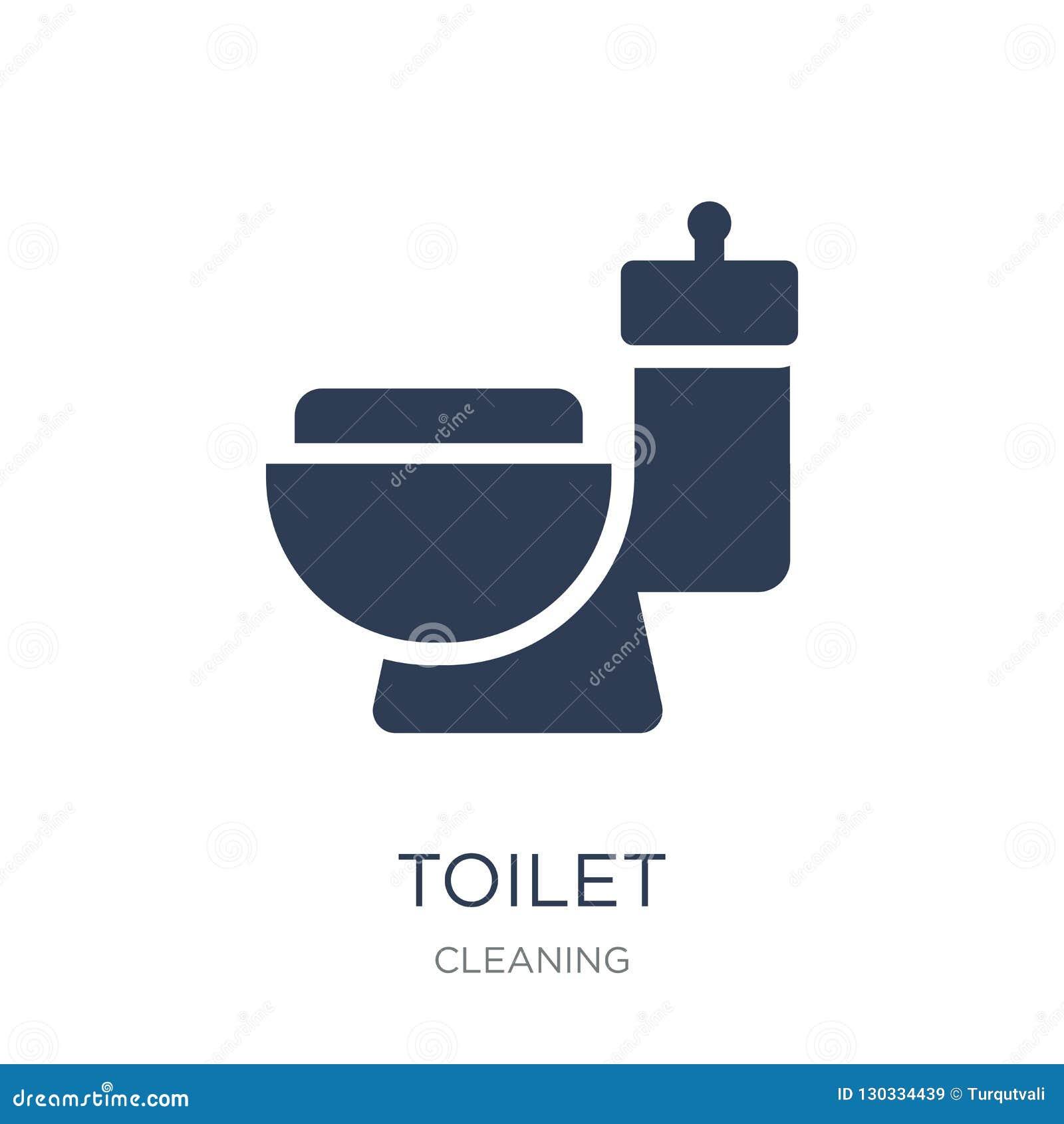 Toilet icon. Trendy flat vector Toilet icon on white background
