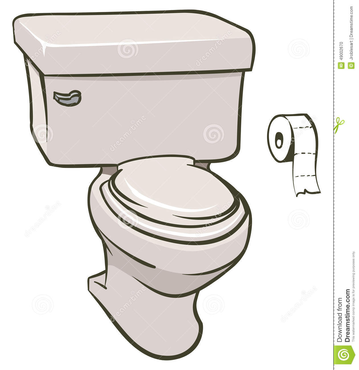 Toilet Stock Vector