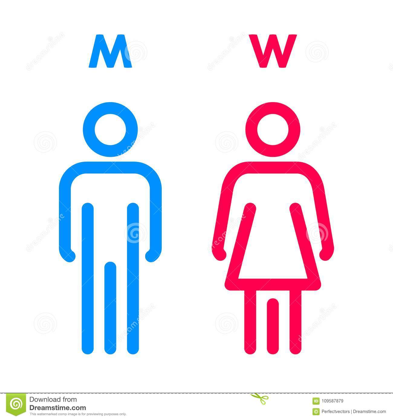 Toilet Indicating Sign Vector Men And Women Wc Directional Signs