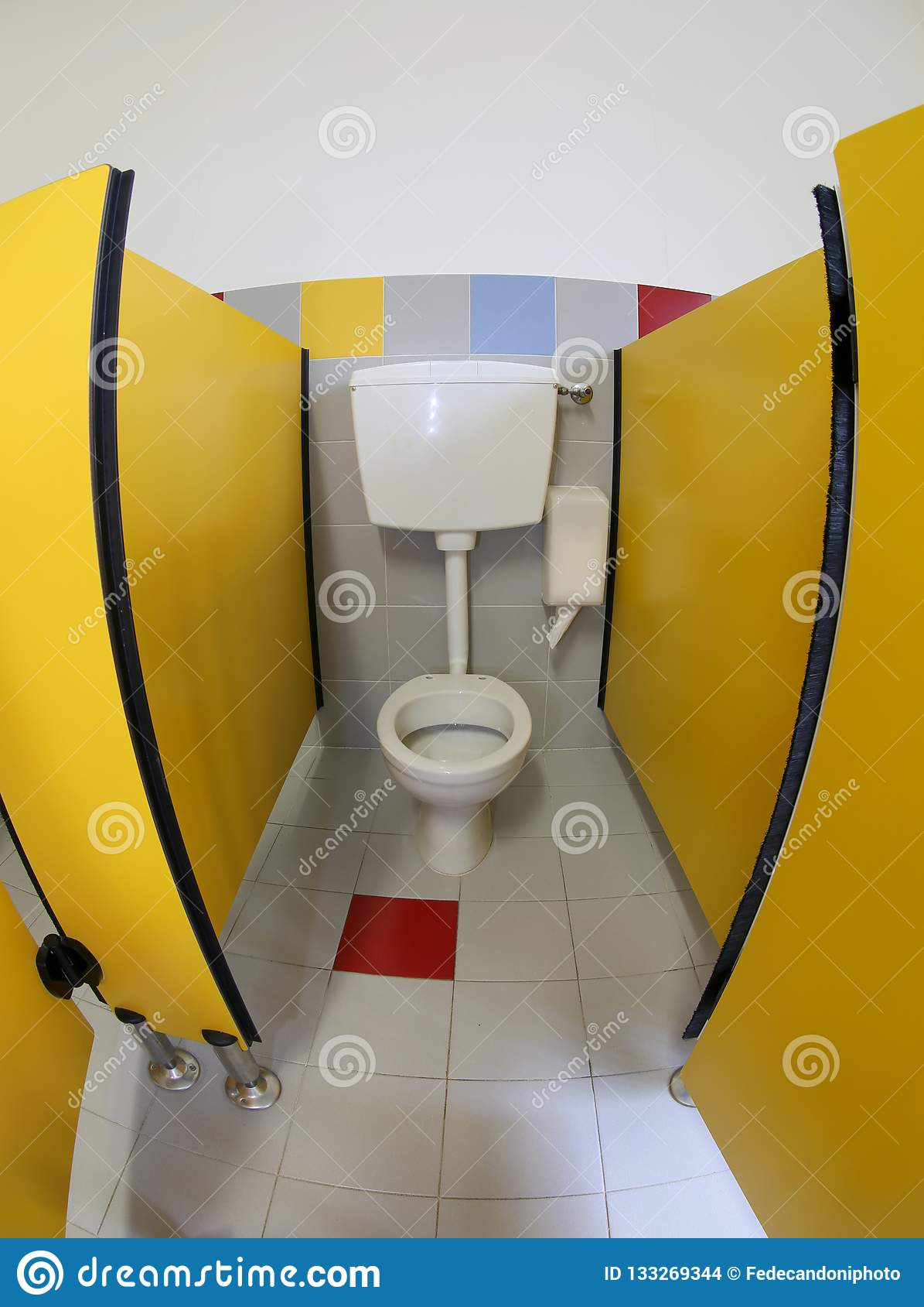 Toilet inside the nursery bathrooms without kids