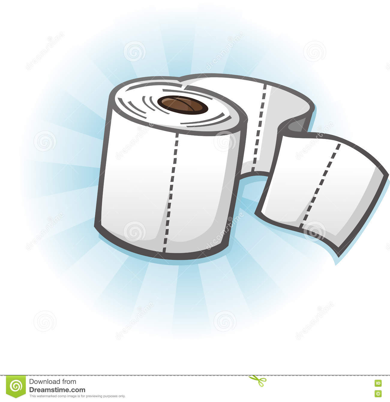 Toilet Paper Cartoon Illustration Stock Photography ...