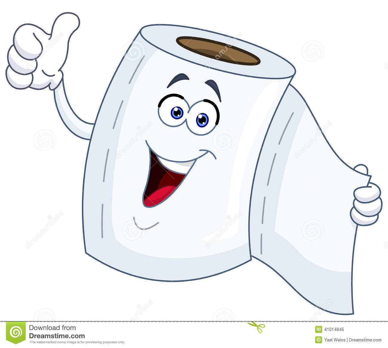 Toilet Paper Cartoon Stock Vector - Image: 41014845