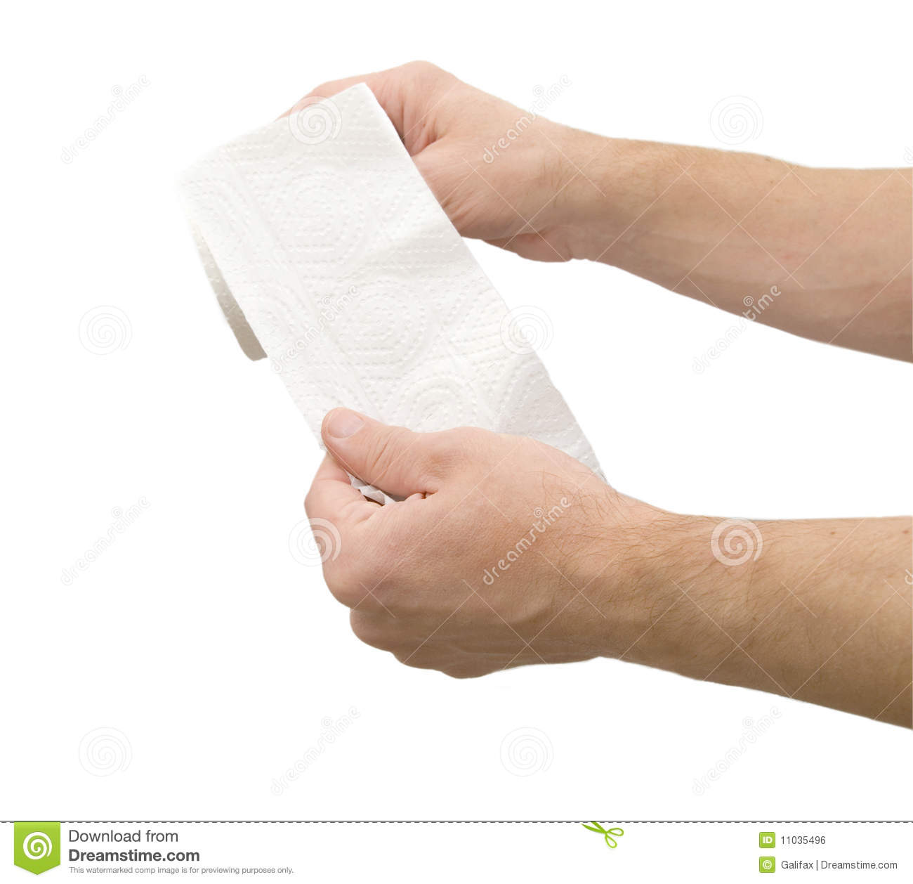 Toilet Paper In Hand Stock Photo Image Of Palm Inside