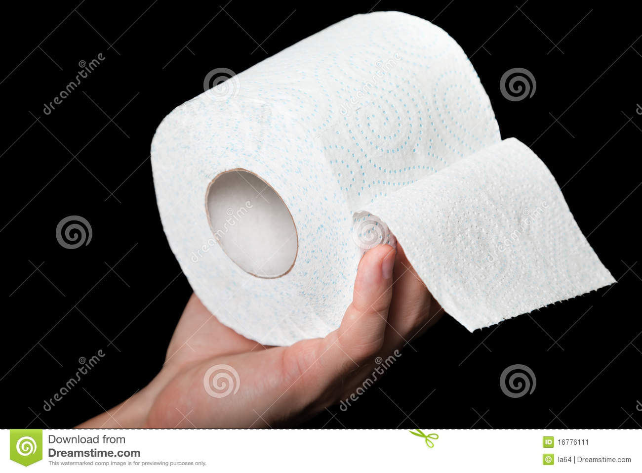 Toilet Paper In Hand Stock Image - Image: 16776111