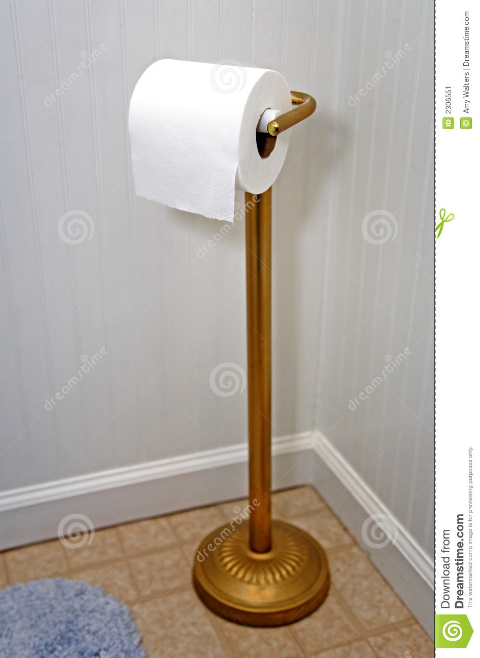 Gold Toilet Paper Holder Stand