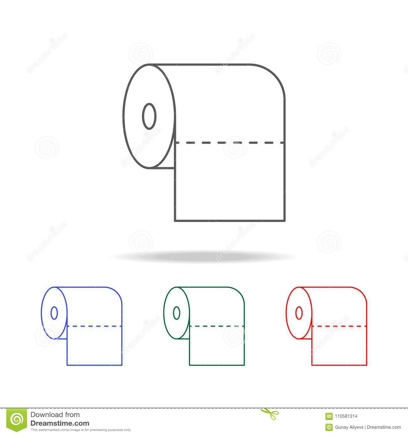 Toilet Paper Icon. Elements In Multi Colored Icons For Mobile ...