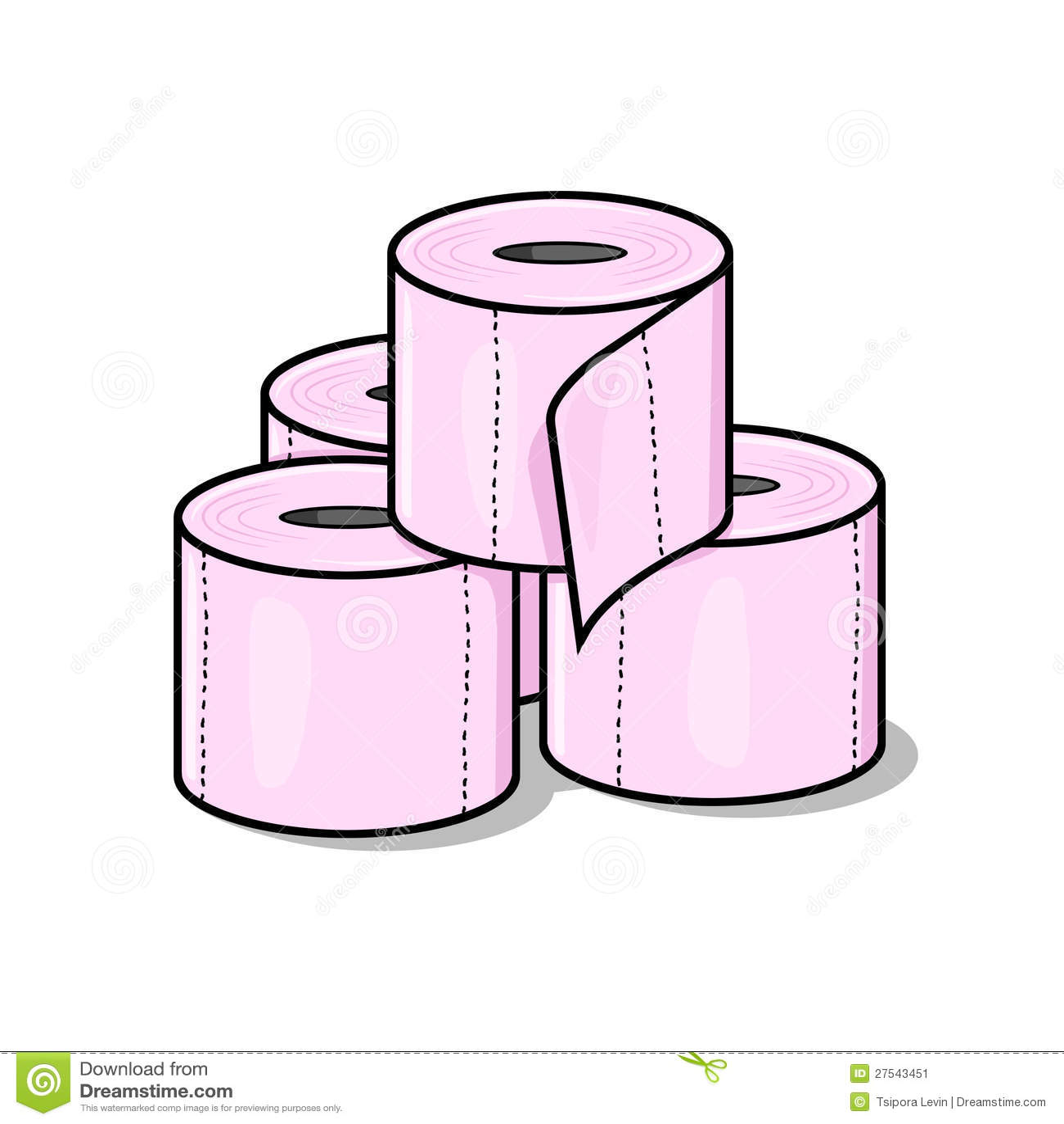 Toilet tissue clipart
