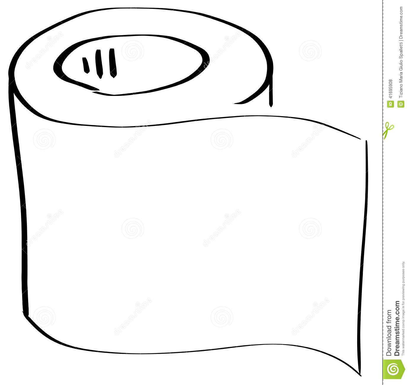 Stylized Roll Of Toilet Paper Isolated Stock Illustration ...