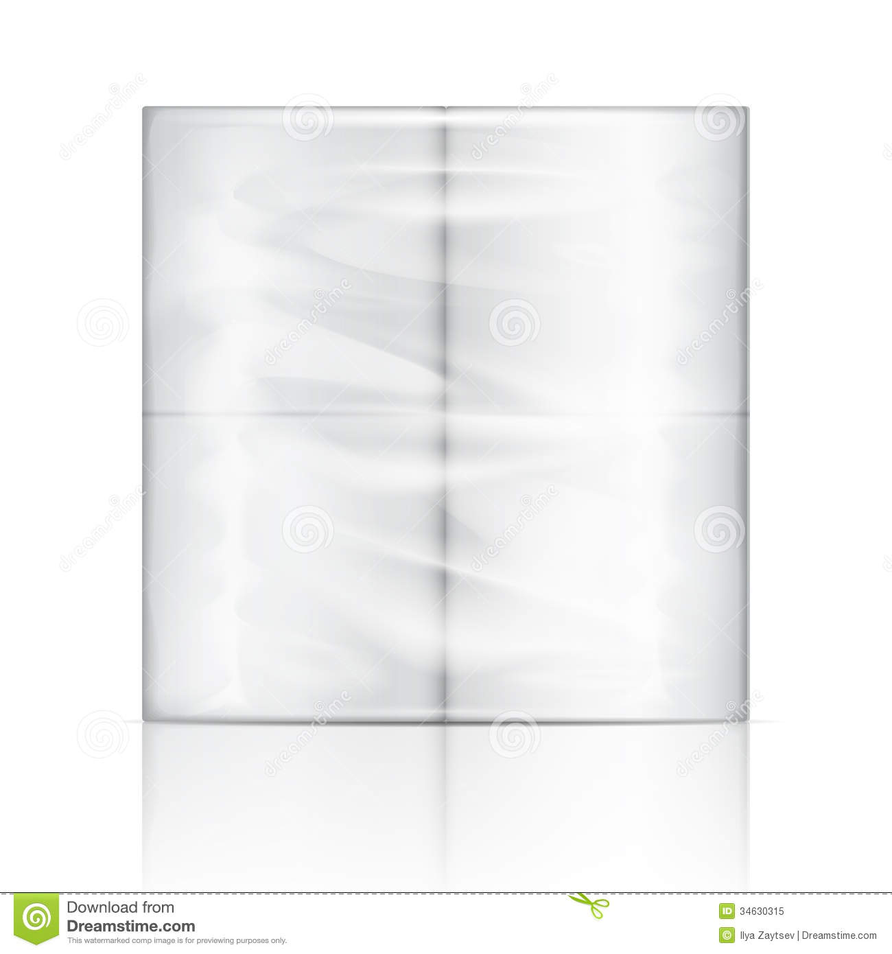 Toilet Paper Package. Stock Vector. Illustration Of Drain