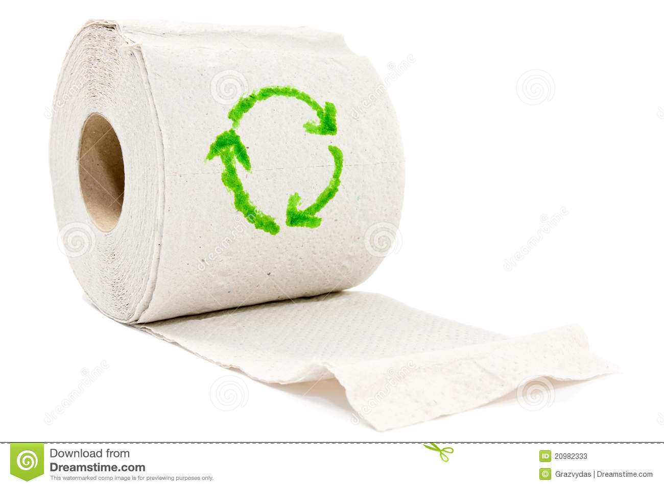 Toilet paper with recycle symbol stock photos image for Recycling toilet paper tubes
