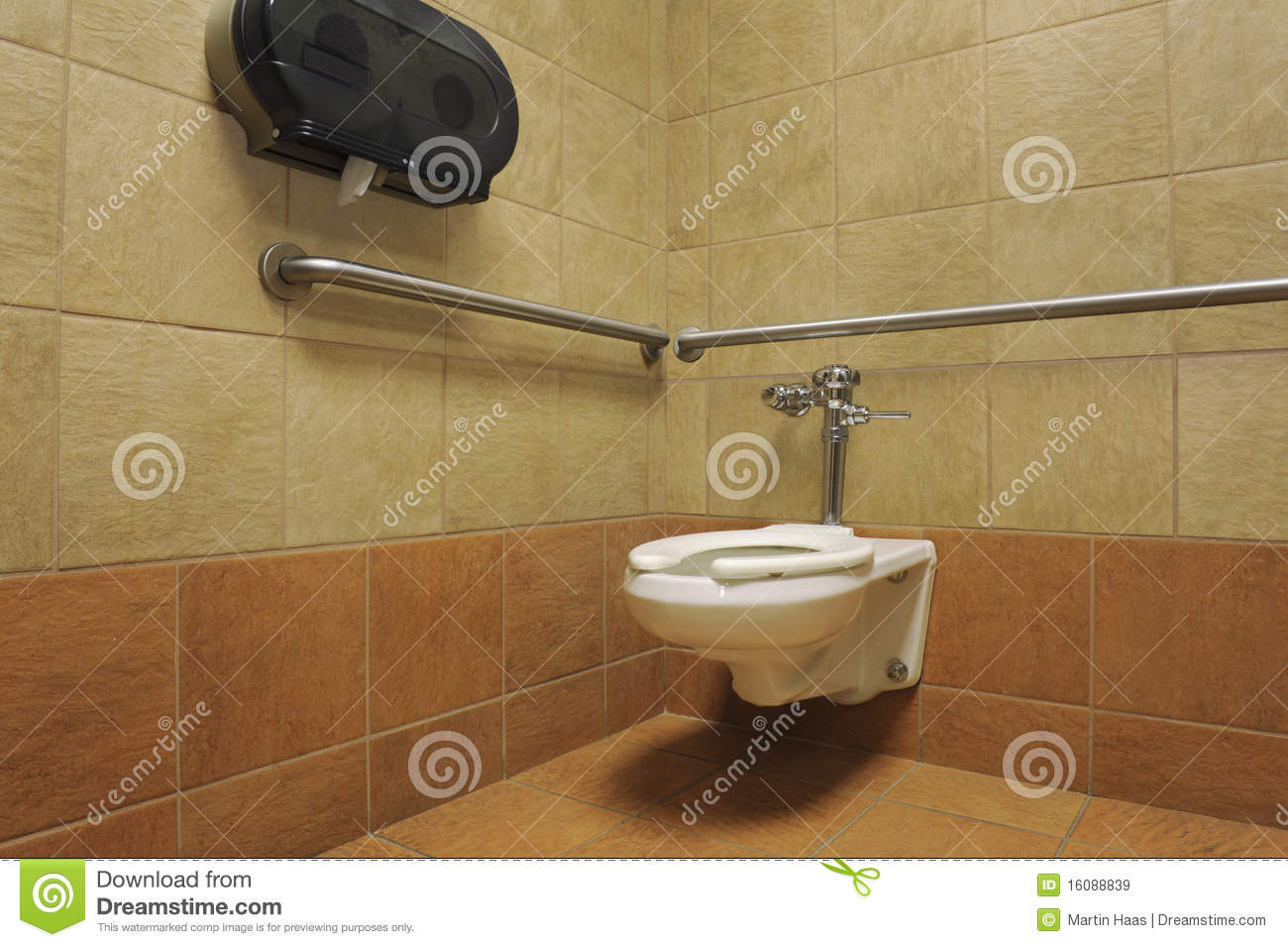 Toilet In A Public Restroom Stall Stock Image Image Of Hygienic - Public bathroom stalls