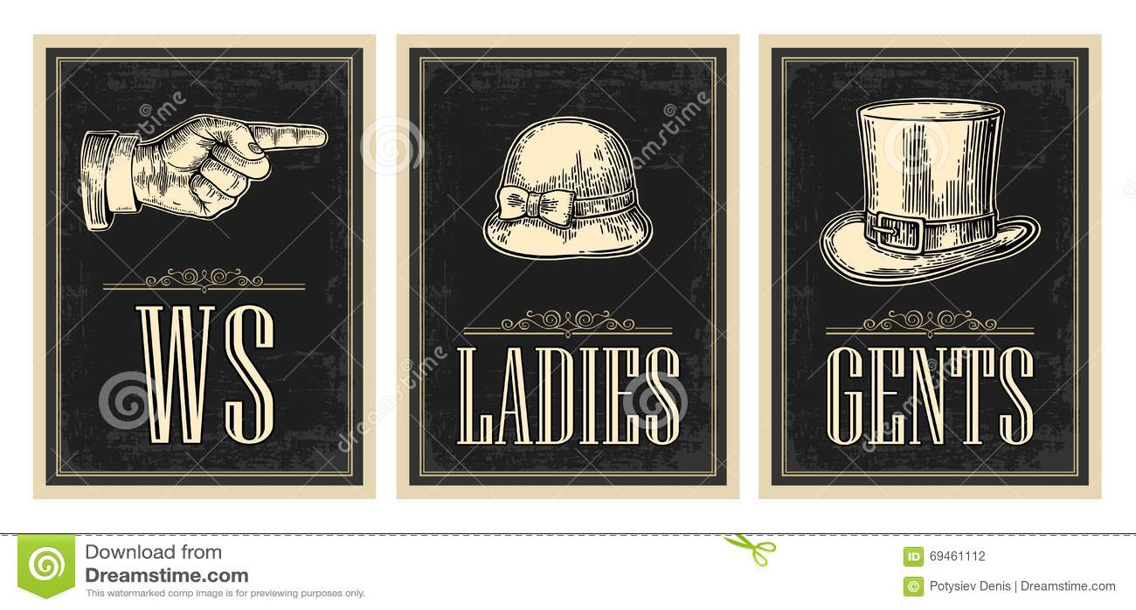 toilet retro vintage grunge poster ladies cents pointing finger stock vector image 69461112. Black Bedroom Furniture Sets. Home Design Ideas